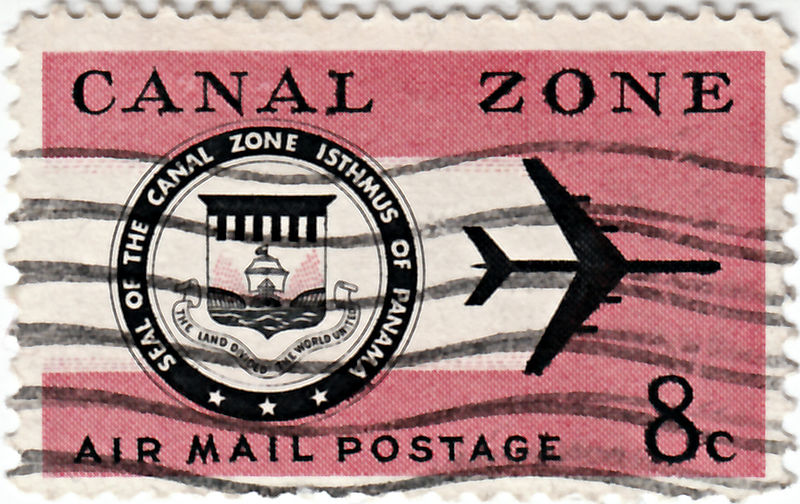 File:Panama Canal Zone Air Mail Stamp.jpg
