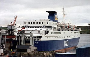 North of Scotland, Orkney & Shetland Steam Navigation Company - Image: Pand O ferry St Clair (V) at Lerwick,1994 geograph.org.uk 493409