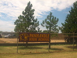 Panhandle, TX, High School sign IMG 0632.JPG