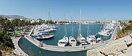 De haven van Kos-stad