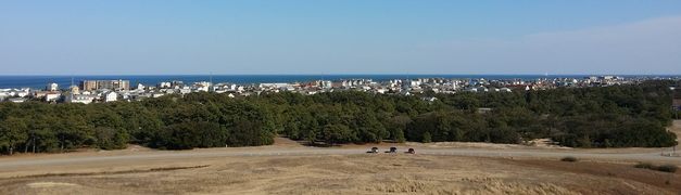 Photographed From The Wright Brothers National Memorial Panorama Of Kill Devil Hills