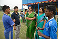 Participants Talk with Nisana Foundation Volunteers - Football Workshop - Sagar Sangha Stadium - Baruipur - South 24 Parganas 2016-02-14 1438.JPG