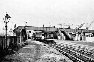 Partick West railway station railway station in Glasgow City, Scotland, UK