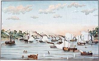 Passage of Humaitá - Passage of Curupayty by Júlio Raison.