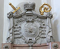 Passau Dom Grabdenkmal Leopld Ernst von Firmian Wappen.jpg