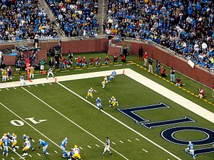 2007 Detroit Lions season - Image: Passing Play