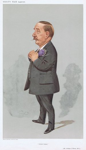 "Pat O'Brien (Irish politician) - ""United Ireland"" O'Brien as caricatured by Spy (Leslie Ward) in Vanity Fair, May 1907"