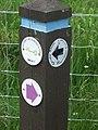 Path marker by Polhollick Bridge - geograph.org.uk - 838039.jpg