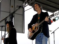 Lenny Kaye con Patti Smith a Chicago nel 2007