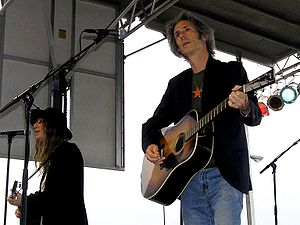 Collapse into Now - Punk icon Patti Smith (left) and her long-term guitar player Lenny Kaye (right) contributed to Collapse into Now—they are pictured here in 2007.