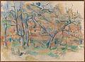 Paul Cézanne - Trær og hus, Provence - Google Art Project.jpg
