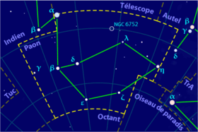 Image illustrative de l'article Paon (constellation)