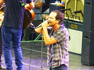 Pearl Jam 2016 North America Tour - Frontman Eddie Vedder at the Wells Fargo Center, Philadelphia on April 29, 2016
