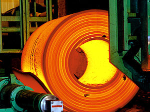 ArcelorMittal - Steel being rolled at an ArcelorMittal facility in Brazil.