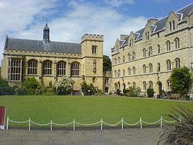 Pembroke College Hall over the Chapel Quad