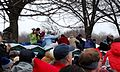 People eventually climbed up on the rows of porta-potties (3208309055).jpg