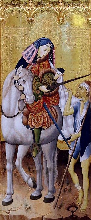 Altarpiece of Saints Ursula, Martin and Anthony - Image: Peris Sarria 02 detalle 03