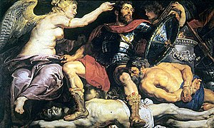 The Crowning of the Virtuous Hero - Image: Peter Paul Rubens Die Krönung des Tugendhelden