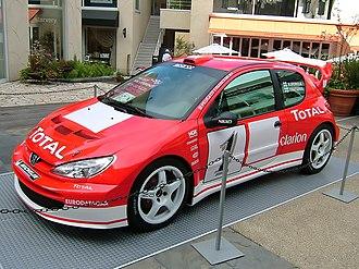 Peugeot 206 WRC - Grönholm's 206 WRC from the 2003 season on display.