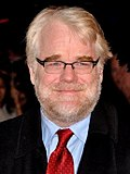 Photo of Hoffman at Cannes in 2002 promoting Punch-Drunk Love