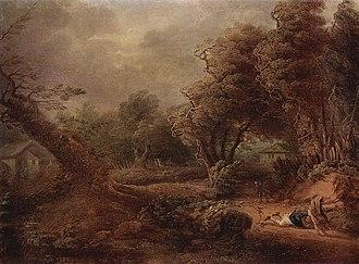 Philipp Hieronymus Brinckmann - Landscape, ca. 1750, now at the Hermitage Museum in Saint Petersburg.