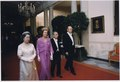 Photograph of President Gerald Ford, First Lady Betty Ford, Emperor Hirohito and Empress Nagako Walking Down the... - NARA - 186821.tif