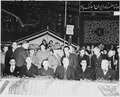 Photograph of President Truman, Secretary of State Dean Acheson, the Shah of Iran, and other dignitaries at... - NARA - 200145.tif
