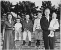 Photograph of Representative Gerald R. Ford with his Wife Betty and Their Children - NARA - 186870.tif