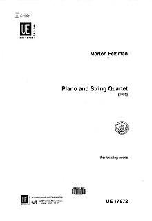 Piano and String Quartet (Feldman) 1985 composition by Morton Feldman