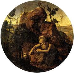 Saint Jerome in meditation