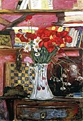 Pierre Bonnard, 1912 - Vase of Flowers and Checkers.jpg
