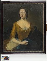 Portret van een vrouw, vermoedelijk Maria Margaretha de Witte (1714-1748). Echtgenote van Johan Gerard van Oldenbarneveld