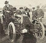 Pierre de Caters, vainqueur du Meeting d'Ostende 1901, sur Mors 24 hp de carrosserie J. Rotschild (La Vie au Grand Air, 15 septembre 1901).jpg