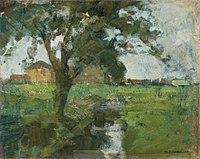 Piet Mondriaan - Farm setting with foreground tree and irrigation ditch - A231 - Piet Mondrian, catalogue raisonné.jpg