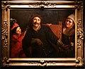 Pietro paolini, l'attore tiberio ferilli nel ruolo di scaramouch con altre due maschere, 01.jpg