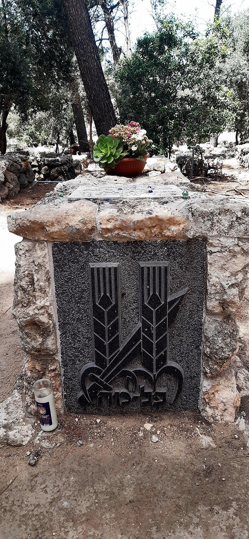 קבר יצחק שדה בגבעת ברנר