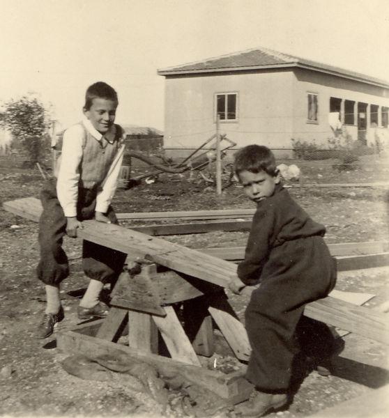ילדים משחקים בקיבוץ