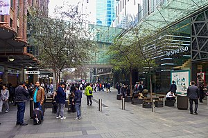 Pitt Street Mall - Footbridge that runs across the mall
