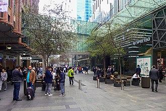 Pitt Street Mall - Footbridge that runs across the mall