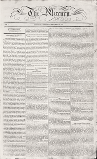 <i>Pittsburgh Mercury</i> 19th-century newspaper published in Pittsburgh, Pennsylvania, United States