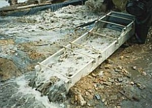 Golden Fleece - A sluice box used in placer mining.