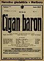 Plakat za predstavo Cigan baron v Narodnem gledališču v Mariboru 6. marca 1927.jpg