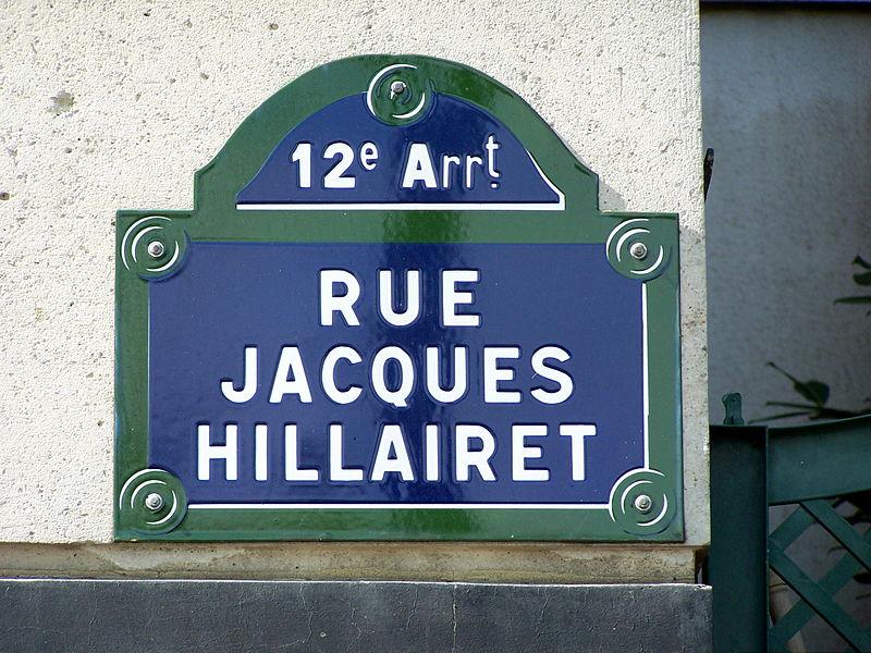 Fichier:Plaque Rue Jacques-Hillairet.JPG