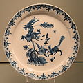 Plate with Dragon and Fox Design, c. 1718-1735, Delft, tin-glazed earthenware, inglaze cobalt oxide - Gardiner Museum, Toronto - DSC00591.JPG