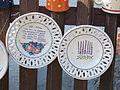 Plates at 49 Kossuth St, Tihany.JPG