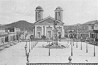 Plaza Colón and Nuestra Señora de la Candelaria c1898 - Mayagüez Puerto Rico.jpg