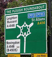 "Sign for the ""Magic Roundabout"""