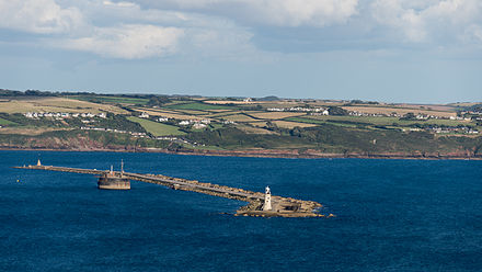 Plymouth breakwater, viewed from above Kingsand Plymouth Breakwater from above Kingsand.jpg