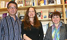 Poets Pedro Serrano, Diane Thiel, and Elsa Cross.jpg