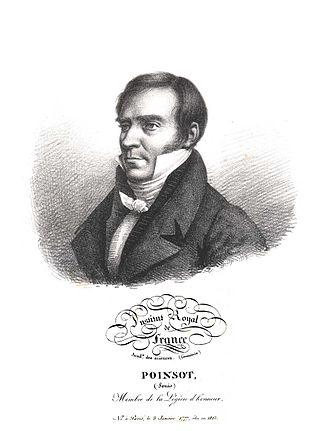 Louis Poinsot - Louis Poinsot. Lithograph.